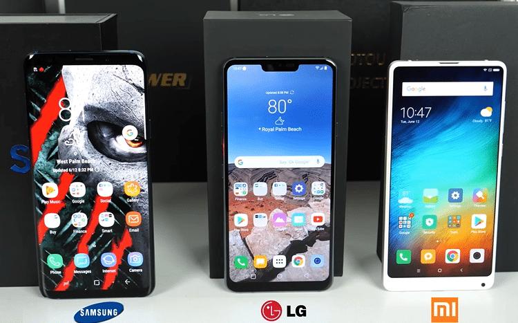 Galaxy S9+ vs. LG G7 ThinQ vs. Mi Mix 2s 2