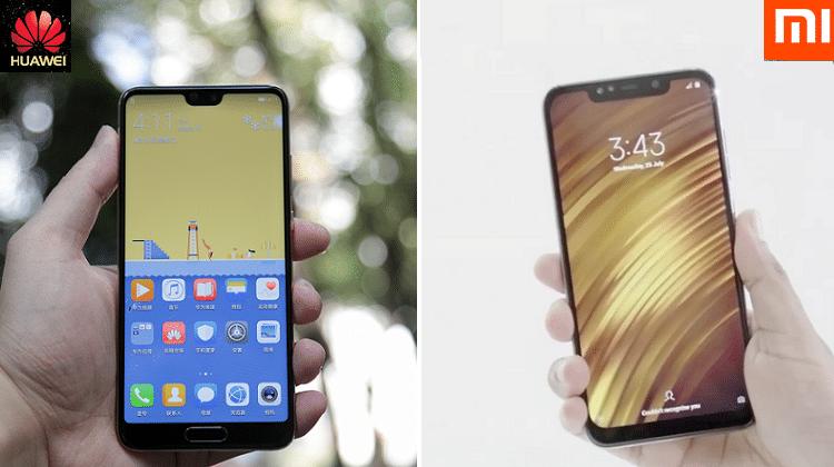 Huawei P20 Pro vs Xiaomi Poco F1 2