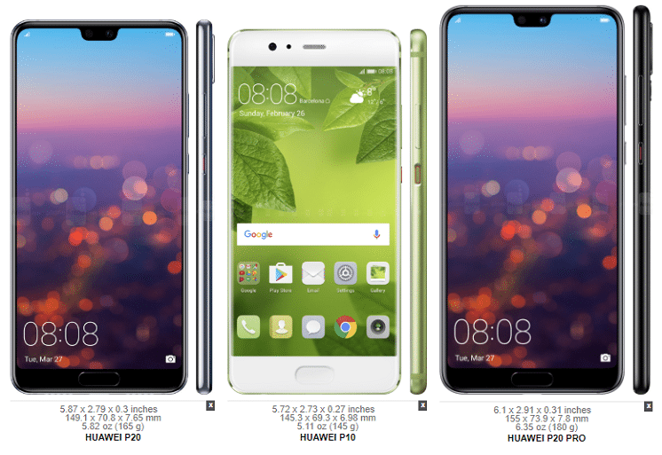 Huawei P20 vs. Galaxy S9 4