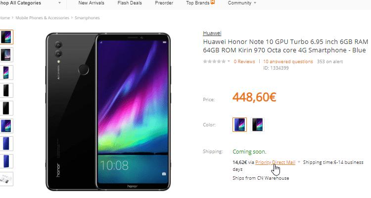 Xiaomi Mi Max 3 VS. Honor Note 10 20α