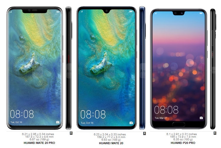 Huawei Mate 20 Pro vs LG V40 ThinQ 3aa
