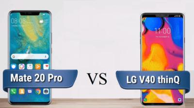 Σύγκριση High-End: Mate 20 Pro vs LG V40 ThinQ