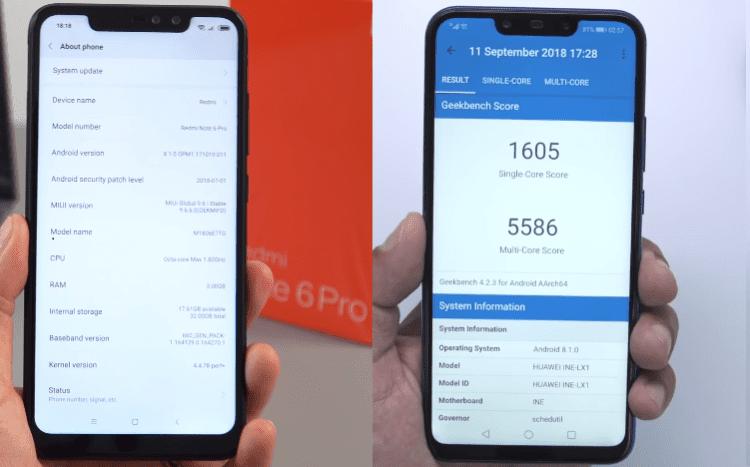 Redmi Note 6 Pro vs Huawei Nova 3i 20ααα