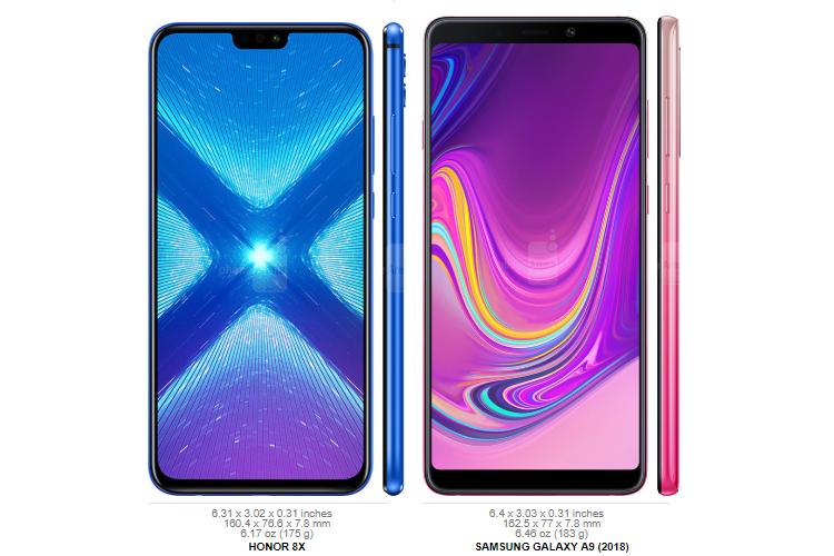 Honor 8X vs Samsung Galaxy A9 2