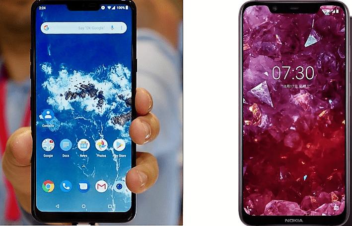 LG G7 One vs Nokia 8.1 12αα