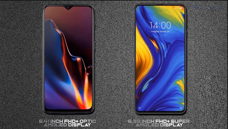 Xiaomi Mi Mix 3 vs OnePlus 6T AA1