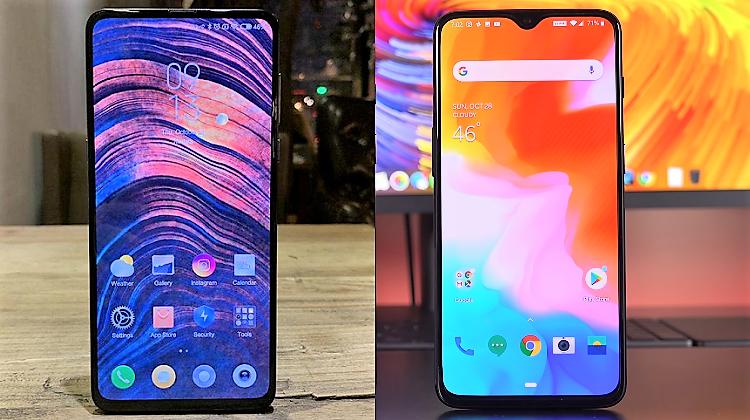 Xiaomi Mi Mix 3 vs OnePlus 6T AABB