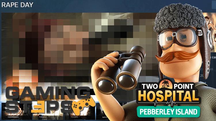 GamingSteps#20190308 - Το Rape Day Εκτός Steam, Nintendo VR Kit, Two Point Hospital DLC