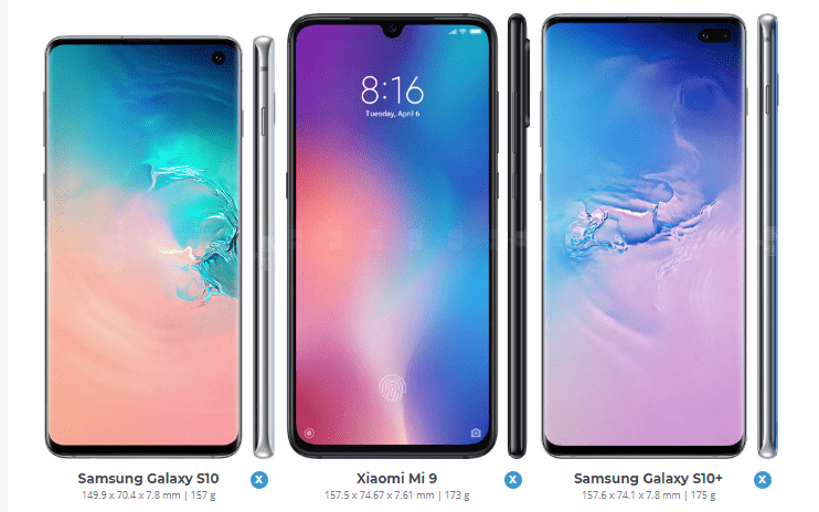 Xiaomi Mi 9 vs Samsung Galaxy S10 20