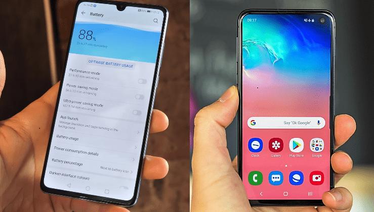 Samsung Galaxy S10e vs Huawei P30 15aa