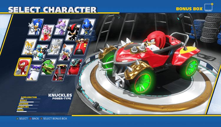 Οι χαρακτήρες του Team Sonic Racing