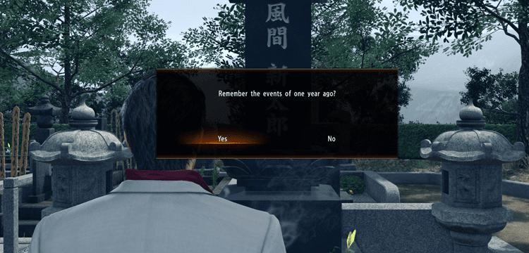 Θυμήσου το παρελθόν στο yakuza kiwami 2