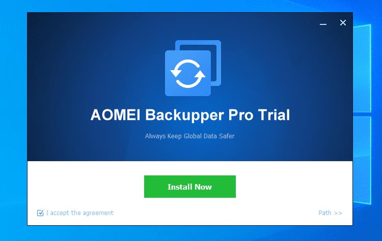 Πλήρες Windows Backup Image με το AOMEI Backupper Pro 1 (1)