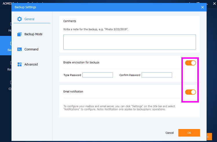 Πλήρες Windows Backup Image με το AOMEI Backupper professional 9