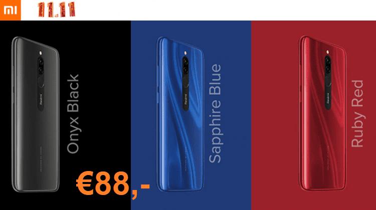 Προσφορές 11.11 Στα Νέα Xiaomi Redmi 8 Global, 3 Χρώματα