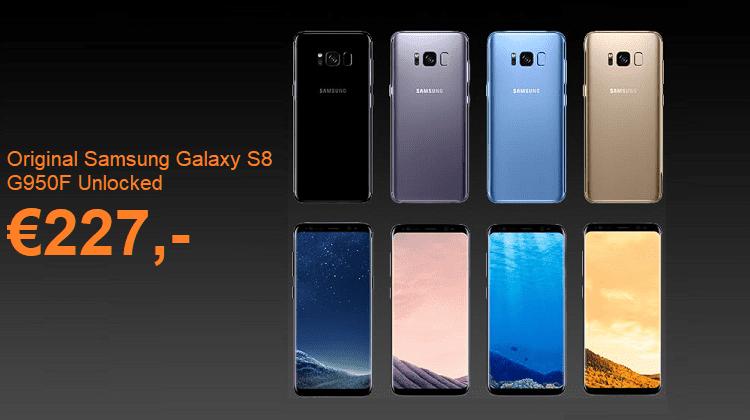 Προσφορά Χονδρικής Στα Samsung Galaxy S8 Σε Τέσσερα Χρώματα Με DHL