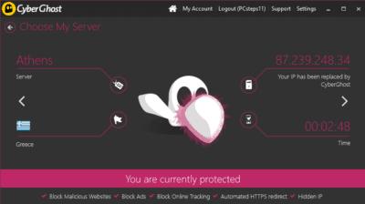 CyberGhost: Πλήρης Προστασία Ιδιωτικής Ζωής με 10 Ελληνικές IP