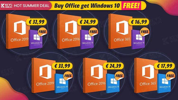 Καλοκαιρινή Προσφορά - Δωρεάν Windows 10 Μαζί με Αγορά Office