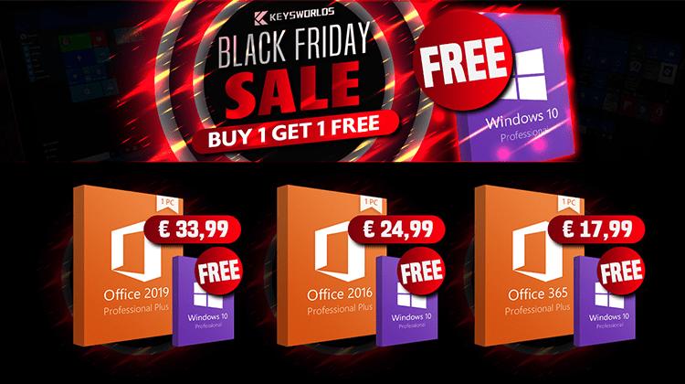 Black Friday στο Keysworlds - Windows 10 Δωρεάν