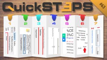 Quicksteps#63: Αύξηση Φωτεινότητας, Προσθήκη TaskView, Δημιουργία Εικονιδίων